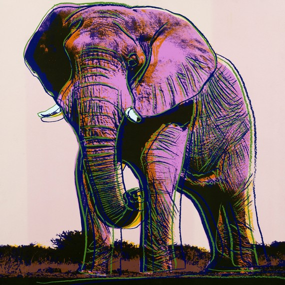 Elephant from Andy Warhol's Endangered Species series