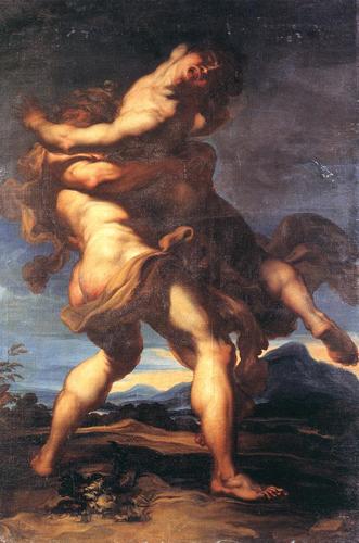 Hercules and Antaeus (1690), by Gregorio de Ferrari