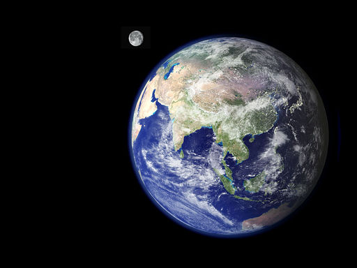 NASA: Earth + Moon