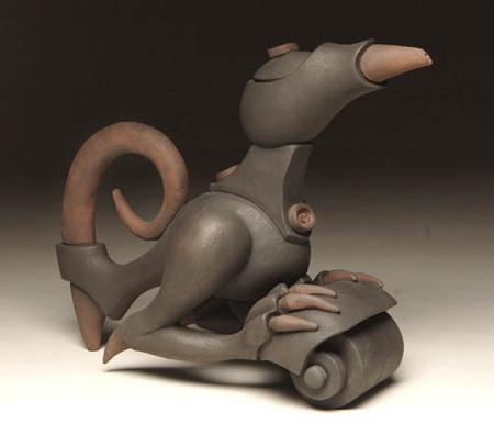 Gerard Ferrari, Rolling Derby Bird, ceramic hybrids
