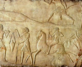 Horse and rider from Horemheb's tomb, ca 1325 BC. via pinterest. https://www.pinterest.com/pin/59743132527643630/