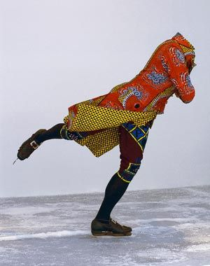 Wildman Humanist, compare Yinka Shonibare to Folkert de Jong