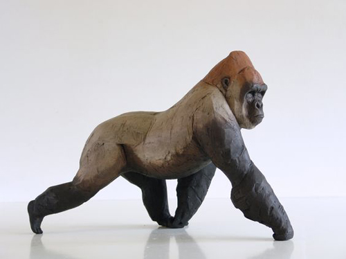Nicola Theakston, Silverback, ceramic