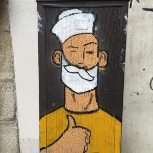 Graffiti in Paris's 3rd Arrondissement.