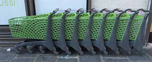 Paris shopping carts
